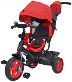 """Велосипед трехколёсный R-Toys Galaxy Лучик VIVAT 10""""/8"""" красный"""