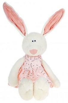 """Мягкая игрушка ORANGE """"Зайка Маша"""" 25 см белый плюш текстиль  MS127/25А"""