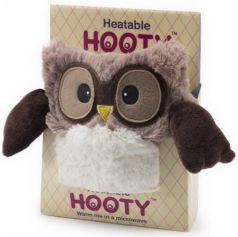 Мягкая игрушка-грелка Warmies Hooty - Совенок 20 см коричневый текстиль HOO-BRO-1