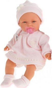Кукла Munecas Antonio Juan Соня в розовом 37 см плачущая 1443P