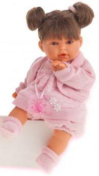 """Кукла Munecas Antonio Juan """"Брюнетка Лана"""" 27 см плачущая 1112Br"""