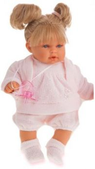 "Кукла Munecas Antonio Juan ""Блондинка Лана"" 27 см плачущая 1112Bl"