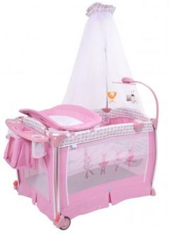 Кровать-манеж Nuovita Fortezza (rosa)