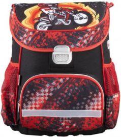 Ранец ортопедический HAMA Motorbike 18 л красный черный 00139073