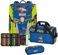 Ранец с наполнением Scout Sunny Exklusiv Гонки В Пустыне 15.5 л синий салатовый 734106-717