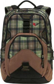 Рюкзак FASTBREAK Daypack II Клетка 23 л черный зеленый 124300-108