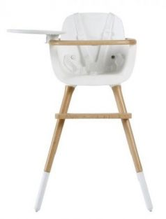 Стульчик для кормления Micuna OVO Plus One (white-natural/ремни white)
