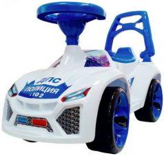 """Каталка-машинка Orion """"Ламбо"""" - Полиция пластик от 3 лет на колесах бело-синий звук ОР021ПК"""
