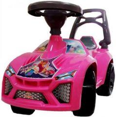 "Каталка-машинка Orion ""Ламбо"" - Принцесса пластик от 3 лет на колесах розовый звук ОР021М"
