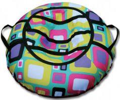 Тюбинг BELON Принт квадраты СВ-004-КВ резина текстиль разноцветный