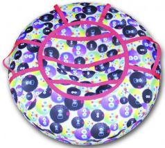 Тюбинг BELON Принт ёжики СВ-003-ПР3 резина текстиль разноцветный