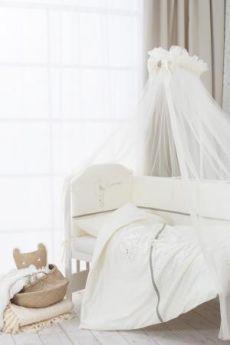 Сменное постельное белье 3 предмета Перина Le Petit Bebe (молочно-оливковый)