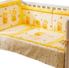 Сменное постельное белье 3 предмета Перина Ника Мишка на подушке (бежевый)