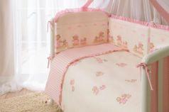 Сменное постельное белье 3 предмета Перина Тиффани Неженка (розовая)
