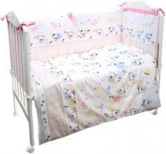 Сменное постельное белье 3 предмета Сонный гномик Конфетти (розовый)
