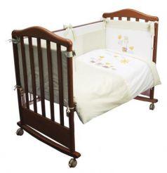 Сменное постельное белье 3 предмета Сонный гномик Пикник (фисташковый)