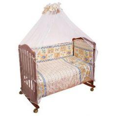 Сменное постельное белье 3 предмета Сонный гномик Считалочка (бежевый)