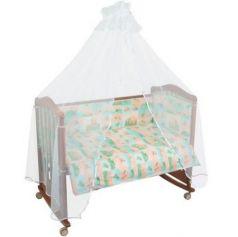 Сменное постельное белье 3 предмета Тайна снов Топтыжки (салатовый)