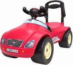 Каталка-машинка Rich Toys Мерсик пластик от 8 месяцев на колесах розовый