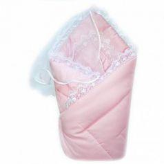 Конверт-одеяло на выписку Золотой Гусь (сатин-жакард/розовый)