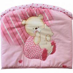 Бампер в кроватку Золотой Гусь Мишутка (розовый)