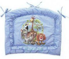 Бампер в кроватку Золотой Гусь Алёнка (голубой)