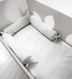 Комплект белья для кроватки с окошечками Bosco белый