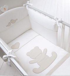 Комплект белья для детской кроватки Baby Expert Casetta (белый/крем)
