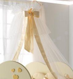 Балдахин Baby Expert Cuore di Mamma (крем/золото)