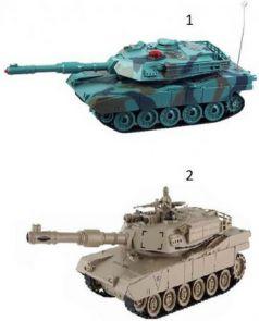 """Танк на радиоуправлении Пламенный мотор """"Военная техника"""" - Abrams М1А2 цвет в ассортименте от 6 лет пластик, металл 870294"""