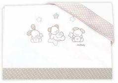 Сменное постельное белье 3 предмета Italbaby Sweet Star (крем/020.1130-0376)