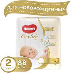 HUGGIES Подгузники Элит Софт 2 3-6кг 88шт
