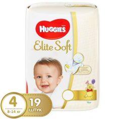 HUGGIES Подгузники Элит Софт 4 8-14кг 19шт