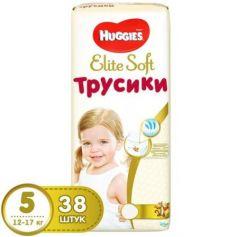 HUGGIES Трусики - подгузники Элит Софт 5 12-17 кг 38 шт