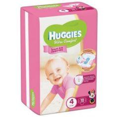 HUGGIES Подгузники Ultra Comfort Размер 4 8-14кг 19шт для девочек