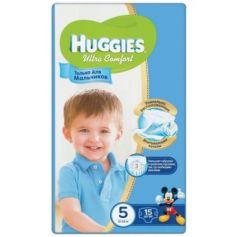HUGGIES Подгузники Ultra Comfort Размер 5 12-22кг 15шт для мальчиков