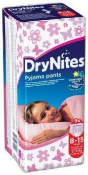 HUGGIES Трусики DryNights для девочек 8-15лет 9шт