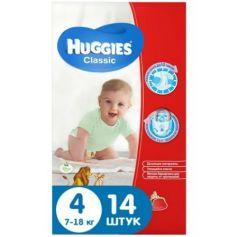 HUGGIES Подгузники CLASSIC Размер 4 7-18кг 14шт