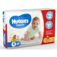 HUGGIES Подгузники CLASSIC Размер 4 7-18кг 68шт