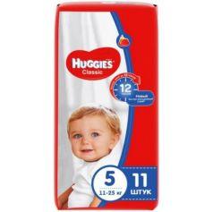HUGGIES Подгузники CLASSIC Размер 5 11-25кг 11шт