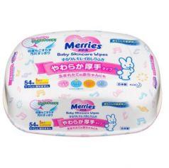MERRIES Детские влажные салфетки Пластиковый контейнер 54шт