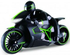 Мотоцикл на радиоуправлении 1toy Мотоцикл с гонщиком зелёный пластик