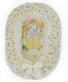 Подушка-валик-гнездо Золотой Гусь Лошадка (бежевый)
