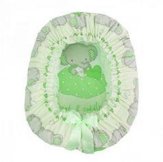 Подушка-валик-гнездо Золотой Гусь Слоник Боня (зеленый)