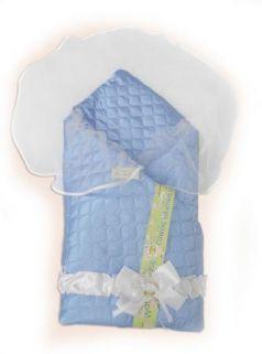 Одеяло на выписку Bombus Мила (зима/голубой)