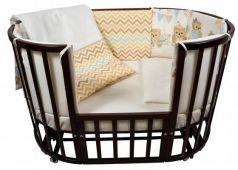 Постельный сет 6 предметов в кроватку Nuovita Gufi (beige)