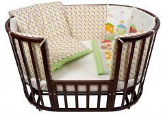 Постельный сет 6 предметов в кроватку Nuovita Case (verde)