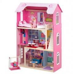 Кукольный домик Муза, для кукол до 30 см (16 предметов мебели, лестница, лифт, качели)