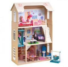 Кукольный домик Грация, для кукол до 30 см (16 предметов мебели, лестница, лифт, качели)