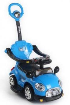 Каталка-машинка Наша Игрушка Машина-каталка Лидер пластик от 3 лет на колесах синий L3018/BLUE